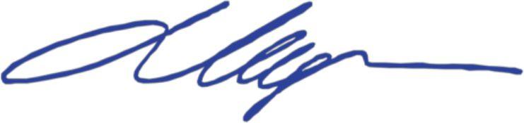 Подпись Мединского
