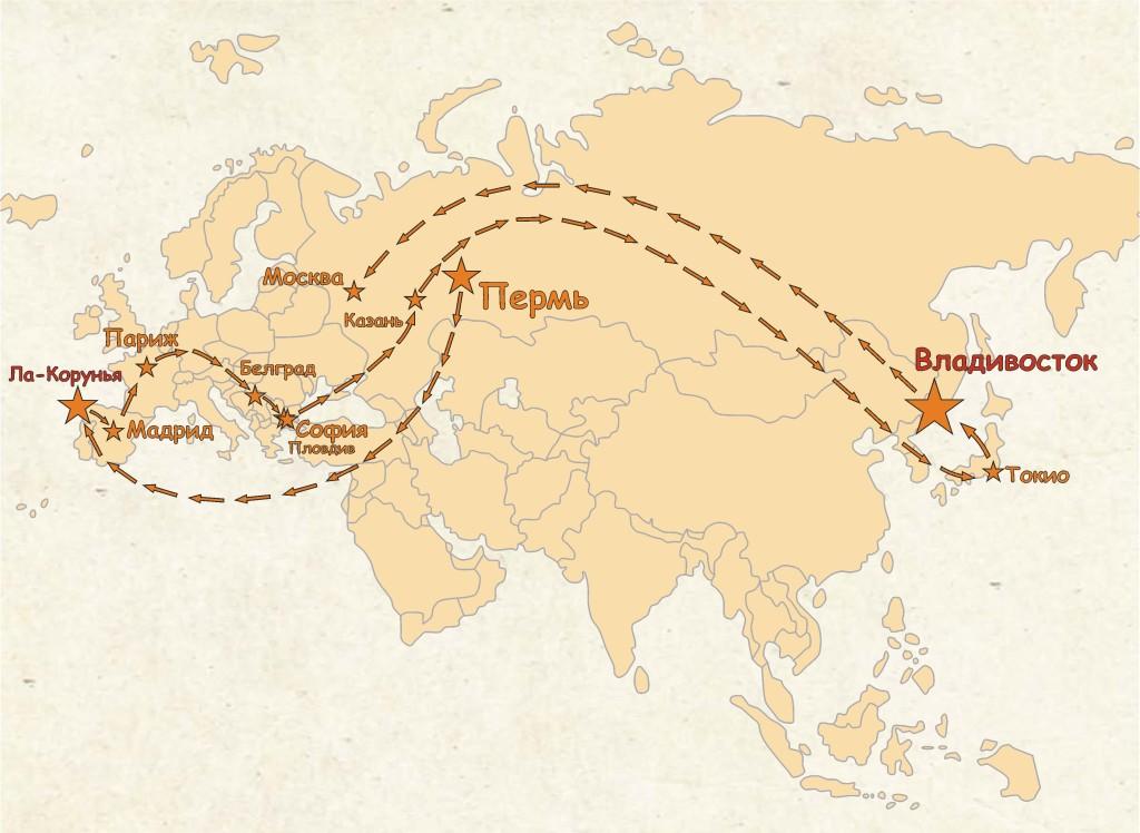 Карта с маршрутом 29.12